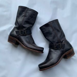Frye Mid-Calf Pull-on Boots Black Size 6